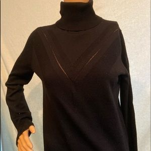 classic black turtleneck by Banana Republic